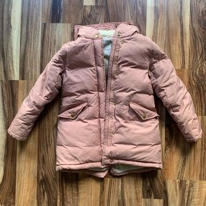 Girls Blush Color Parka Coat
